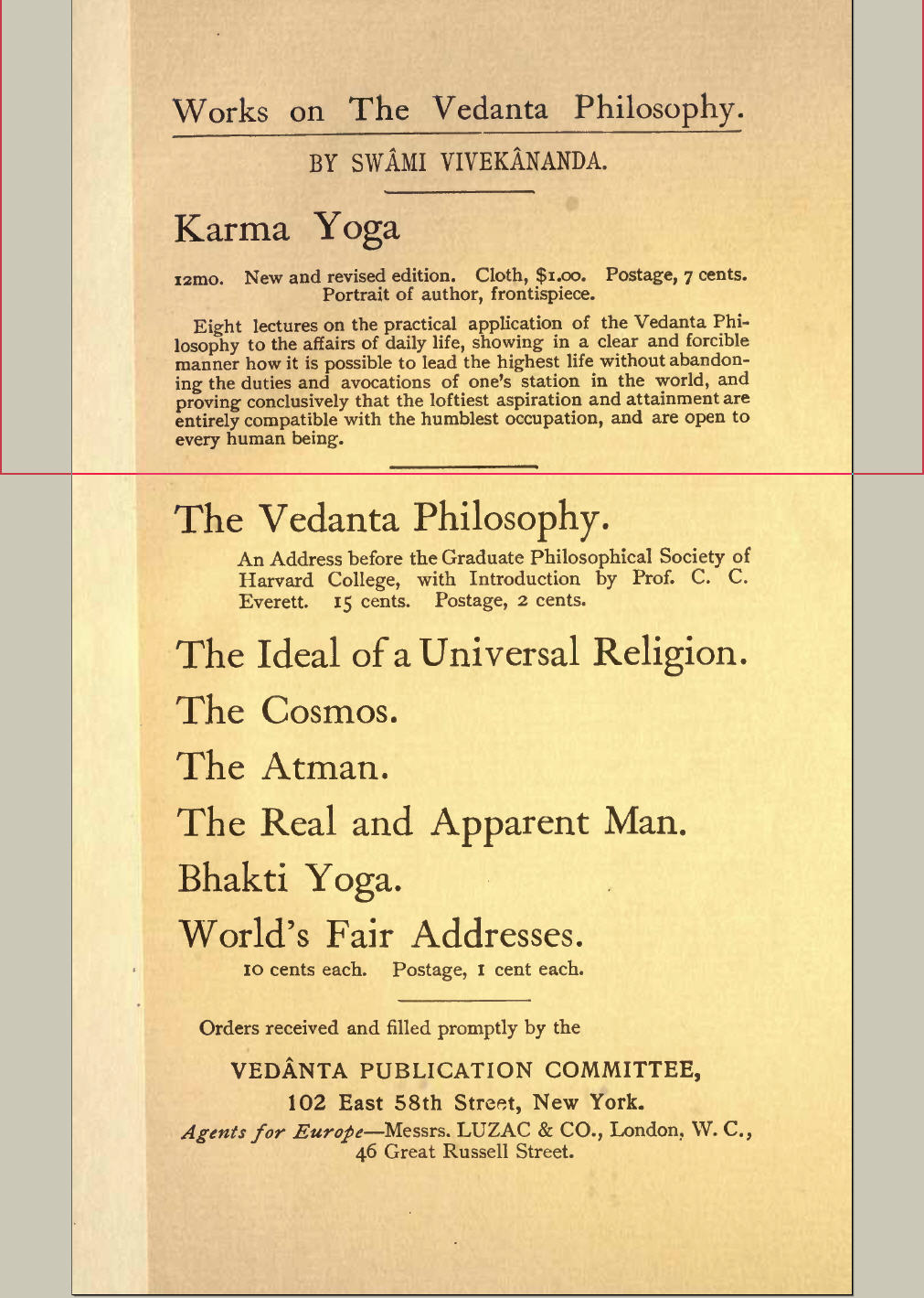 library online frank parlato jr the unauthorized edward sturdy edition of s bhakti yoga later drawn from circulation at s behest
