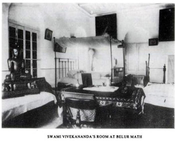 vivekananda's room at belur math